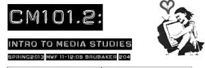 CM101 – Introduction to Media Studies