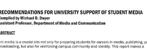 Recommendations for University Support of Student Media